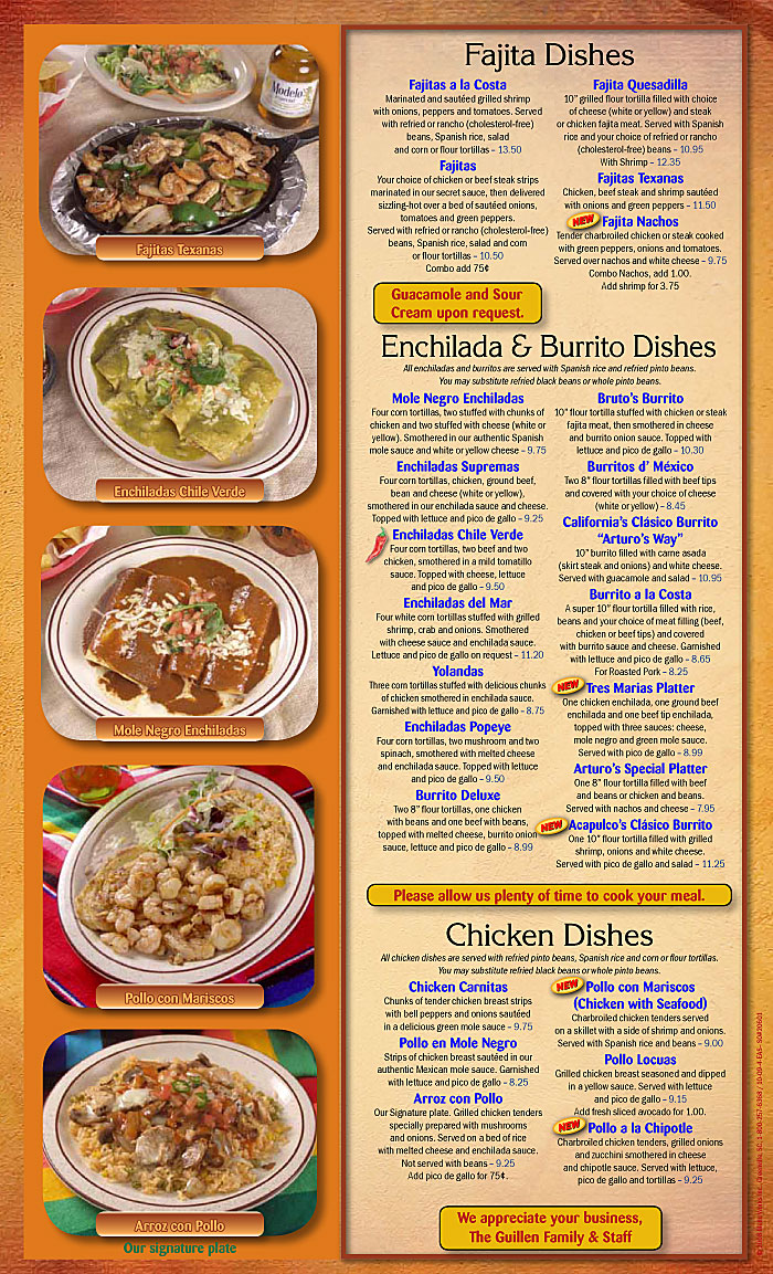 New Bern Nc Authentic Mexican Cooking Arturo S Mexican