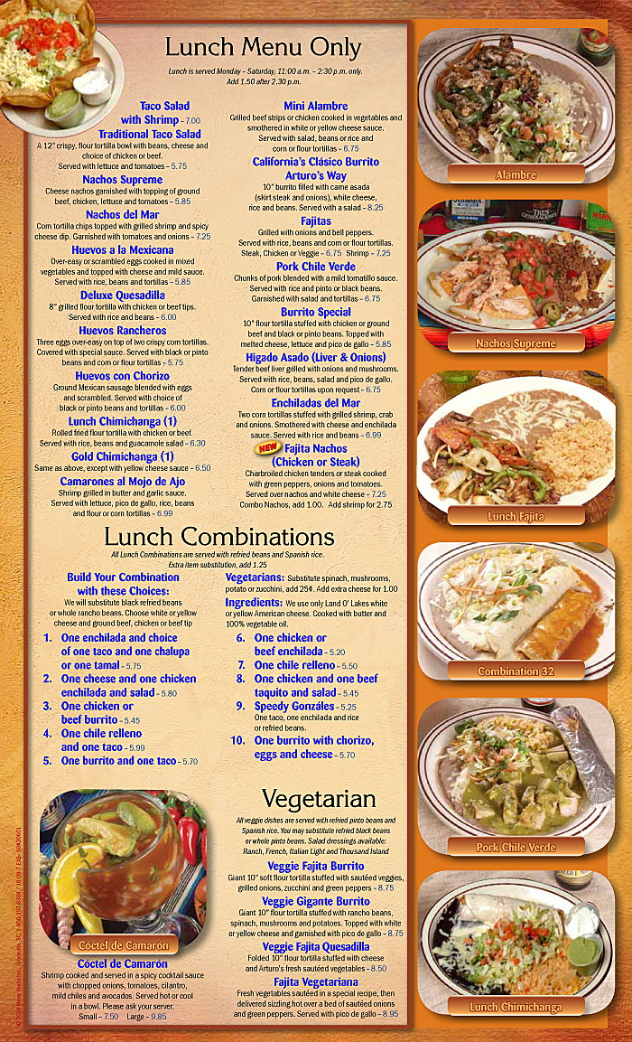 new bern nc - authentic mexican cooking | arturo's mexican restaurant